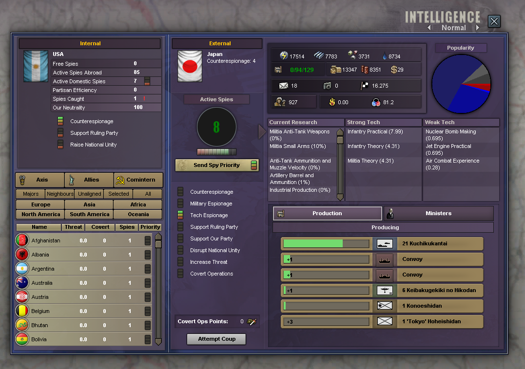Military Intel Screen From HOI3