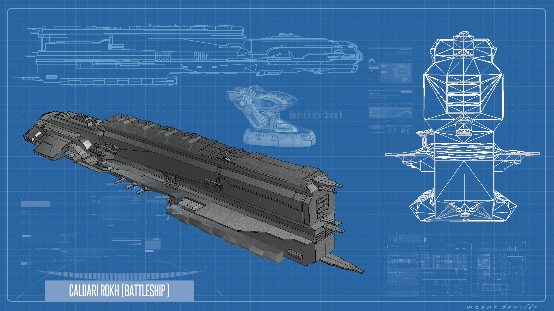 EVE Online - Rokh Blueprint